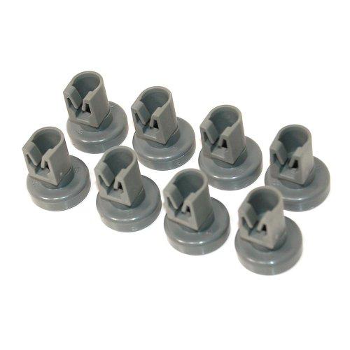 Electrolux Ruote del cestello superiori originali per lavastoviglie, Confezione da 8 pezzi