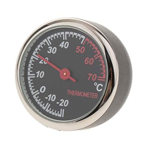 Gazechimp Autothermometer Temperatur Messung im Innenraum für Auto Boot Schiff Schreibtisch, Durchmesser: 4 cm