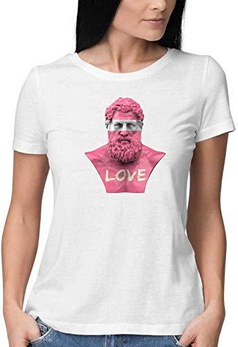 The Pink Zeus Round Neck Camiseta Mujer X-Large