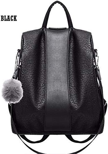 QWKZH Sacs à Dos Wohommes imperméable sac à dosDécontracté Ladies'sac Anti-Theft sac à dos lumièreweight School Shoulder sac PU