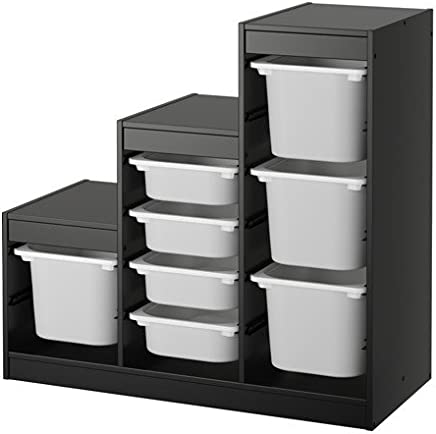 IKEA TROFAST Storage combination Black white