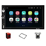 Hodozzy Double Din Car Stereo 7 inch Android Car Radio Bluetooth 2 Din Indash Head Unit Support Subwoofer Car Multimedia Player WiFi/SWC/DVR/Mirror Link/USB/FM/Rear View Car Audio