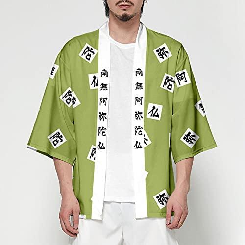 Vrouwen/Mannen Zomer Casual Cool Streetwear Demon Slayer Kimetsu geen Yaiba Print Japanse Anime Kimono Haori Yukata Cosplay