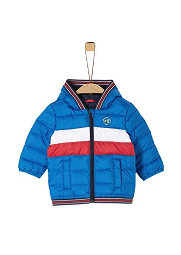 s.Oliver RED LABEL Unisex - Baby Steppjacke in Colour Blocking-Optik blue 92