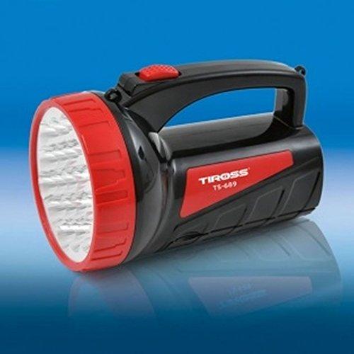 amara-global Taschenlampe Handscheinwerfer 2 in 1 LED Akku-Handlampe Standlampe TS-689