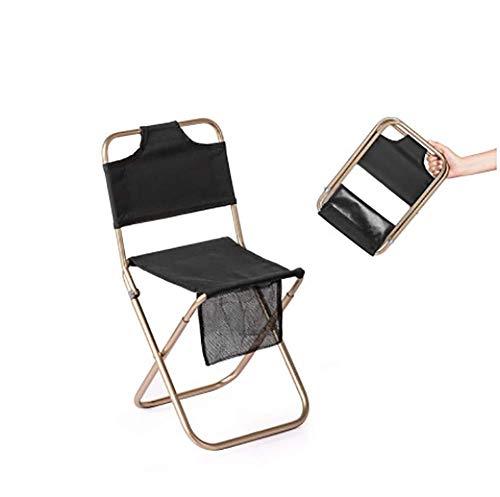 WXJHA Camping-Stuhl, Sitz Folding Low Leichte Heavy Duty Compact Ultraportable Für Armee Angeln Backpacking Wandern Picknick Rasen Camp Garten Für Kinder Teens,Schwarz