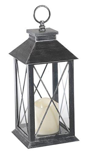 Flower Power 9716 - Lanterna con candela a LED per esterni in plastica