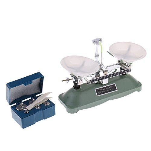 MagiDeal 100 / 200 / 500 Gramm Präzise Schulwaage Balancewaage mit Gewichten Set - 200 Gramm