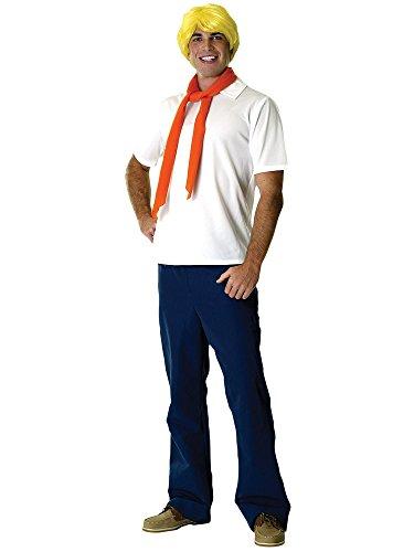 Rubie's Offizielles Fred + Perücke, Erwachsene, Kostüm Scooby DOO, Cartoon, für Herren