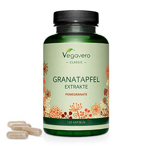 MELOGRANO Vegavero® | 600 mg per capsula | con 40% Acido Ellagico e 40% Punicalagina | Fonte naturale di ANTIOSSIDANTI | 120 capsule | Vegan