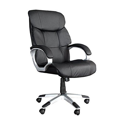 Invicta Interior Design Chefsessel Strong XXL schwarz Bürostuhl bis 150 KG für große Menschen Gaming Drehstuhl Gamingstuhl mit Rollen Computerstuhl Büro Gamer Stuhl Wipp Funktion mit Armlehne