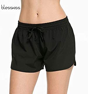 SSKISS Single Layer Quick Dry Sport Shorts for Women Summer Cycling Running Gym Yoga Shorts Fitness Clothes:Black, XL