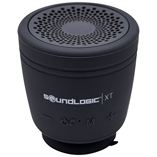 SoundLogic XT Tag Along Water Resitant Wireless Bluetooth Speaker with Detachable Tail and Suction Cup