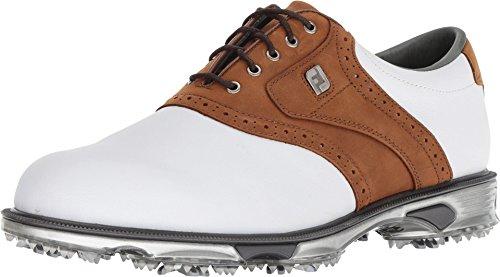 Footjoy Herren DryJoys Tour Golfschuhe AD Template Gr., Weiß - White Bomber Taupe - Größe: 39 1/3 EU
