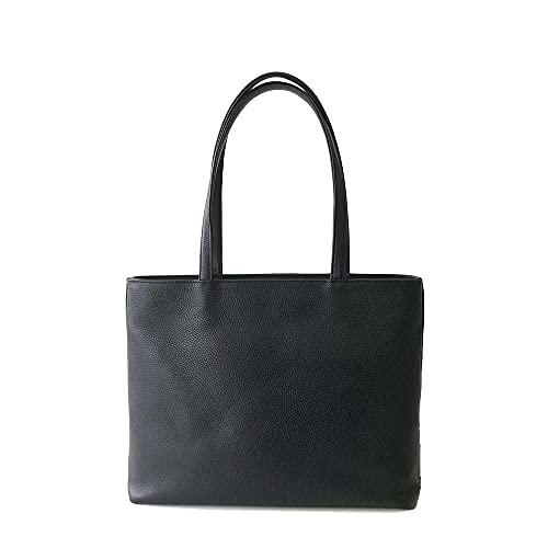HushTug レザー トートバッグ 「 シンプル な メンズ 本革 トート バッグ 」 ブラック / 黒