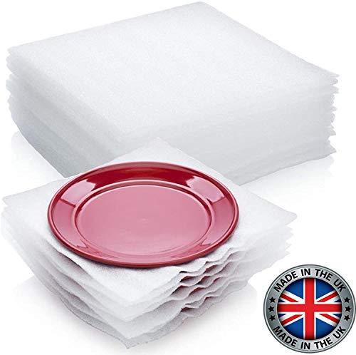 Suministros de embalaje de 75 piezas de espuma de cojín envuelven de forma segura para proteger platos, vasos de China, platos frágiles para cajas de mudanza, 30,5 x 30,4 cm