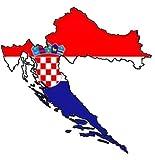 Auto Aufkleber, Car Sticker 'HRVATSKA' Kroatien, Croatia. Konturgeschnitten. (ca. 11 cm)