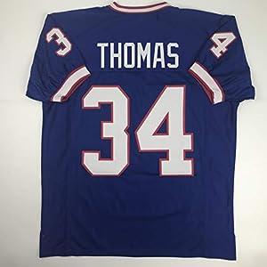 Unsigned Thurman Thomas Buffalo Blue Custom Stitched Football Jersey Size Men's XL New No Brands/Logos