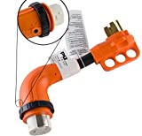 GoWISE Power 12-inch 90-Degree Dog Bone RV Adapter with Twist Lock (50 Amp Male / 50 Amp Female)
