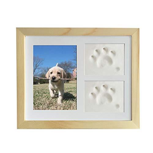 Siwetg Pet Memorial fotolijst katten en honden pootafdruk fotolijst voor kamerwand of tafeldecoratie