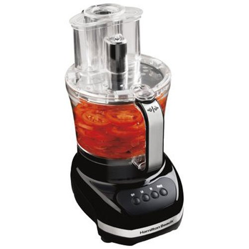 Hamilton Beach 70580C Food Processor, Black with Stainless Steel Accents