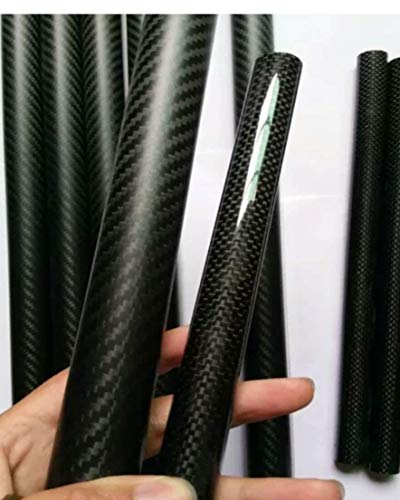 Pingrog 3K Roll 25 Mm Carbon Tube Koolstofvezel Buis Koolstofvezel 23 Mm X 25,2 Mm X 500 Mm Glanzend Voor Rc Quad Oostelijke mediterrane Stijl Ontwerp Rustieke Ornament Gordijnen Montage Accessoires