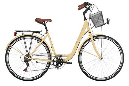 "Frank Bikes 28"" 28 Zoll Damen City Trekking Fahrrad CITYFAHRRAD CITYBIKE DAMENFAHRRAD CITYRAD DAMENRAD Shimano 6 Gang Central Park Creme Beige"