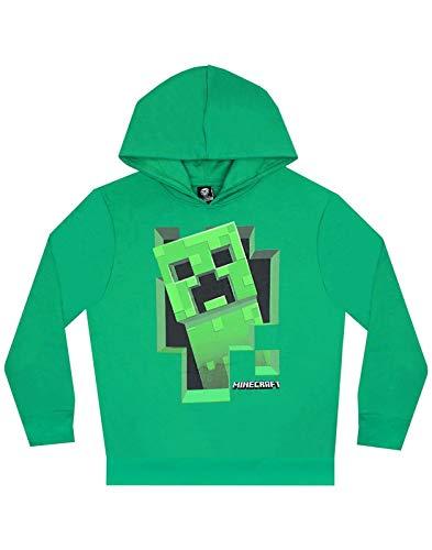 Vanilla Underground Minecraft Creeper Inside Boy's Green Hoodie