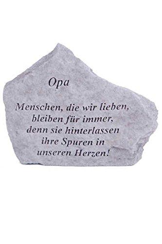 Vidroflor Gedenkstein Opa. aus Steinguss 18 x 14 cm Grabschmuck