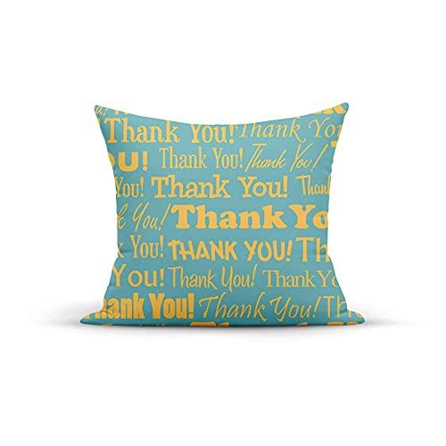 Funda de almohada decorativa vintage, agradecimiento, gratitud, diferentes fuentes, tipos de texto, mensajes, fundas de almohada, fundas de cojín para interior y exterior, para el hogar, sofá, sofá, 1