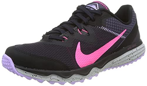 Nike Juniper Trail, Zapatillas para Correr Hombre, Black Hyper Pink Cave Purple Lilac, 41 EU
