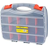 <span class='highlight'>TOOL</span> BOX BITS 2 SIDED STORAGE ORGANISER 30 COMPARTMENTS <span class='highlight'>CASE</span> SCREWS DIY ASSORTED