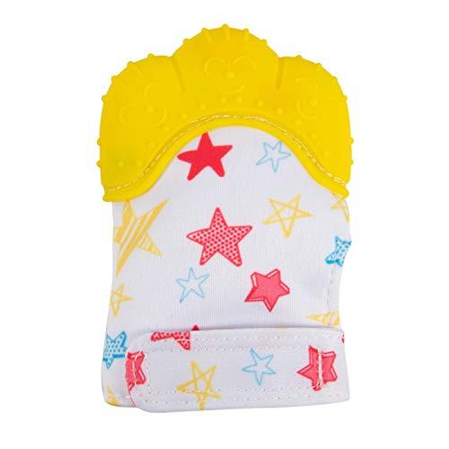 Obestseller Baby Teething Mitten Glove, Knisternder Handschuh für Baby-Age 2-12 Months- BPA Free Silicon-Baby Handschuh Stimulierendes Beißring-Spielzeug für Jungen & Mädchen