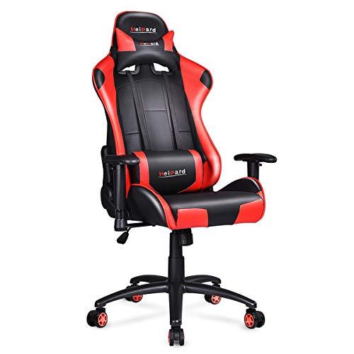 HeiPard Gaming Stuhl Racing Stuhl Ergonomisches Design Höhenverstellbarer Schreibtischstuhl Sportsitz mit Verstellbaren Armlehnen und Wippfunktion