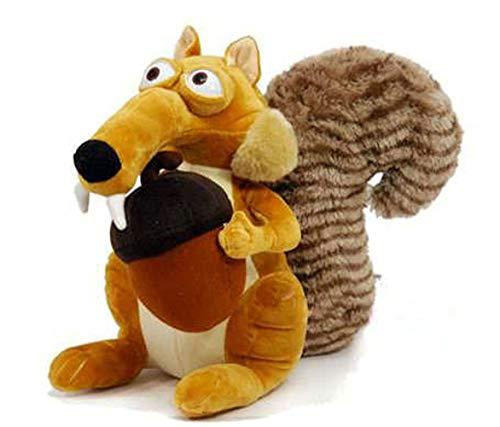 Jsadfojas - Muñeca de peluche de ardilla suave de 7 pulgadas para regalo de Navidad o cumpleaños de niños, Amarillo, talla única
