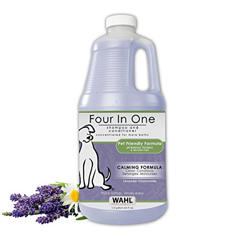WAHL 4-in-1 Calming Pet Shampoo - Cleans, Conditions, Detangles & Moisturizes with Lavender Chamomile - 64 Oz