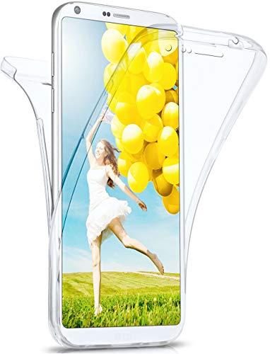 MoEx Cover Fronte-Retro in Silicone Compatibile con LG G6   Trasparente, Trasparente