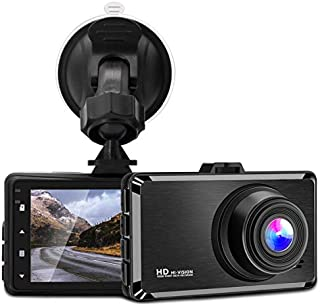 Dash Cam, 3 Inch 1080P FHD Dvr Car Driving Recorder, 170 Wide Angle Dash Camera with Loop Recording, G-Sensor, Parking Monitor, Motion Detection [GRC]