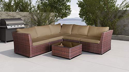 Baidani Designer Sitzgruppe Atmosphere, 1 Ecksofa, 1 Tisch mit Glasplatte, 2 Bezugsgarnituren, schwarz Bild 4*