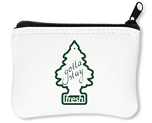 Gotta Stay Fresh Funny Little Tree Car Freshener Reißverschluss-Geldbörse Brieftasche Geldbörse