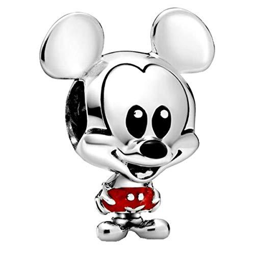 Annmors Disney Mickey Maus Charms-Anhänger 925 Sterling Silber Charm Bead für Chamilia und europäische Armbänder und Halskette