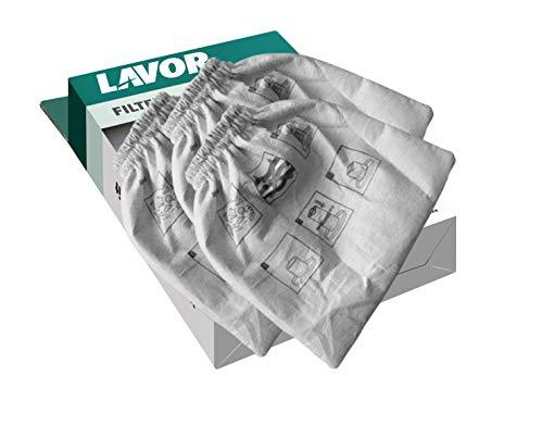 LAVOR Set 3 Filtri in Panno per Aspiratori per Serie VAC, CF, WT, Venti, Trenta, Rudy, GNX, GB, GBP, Swimmy, per Aspirare Polvere