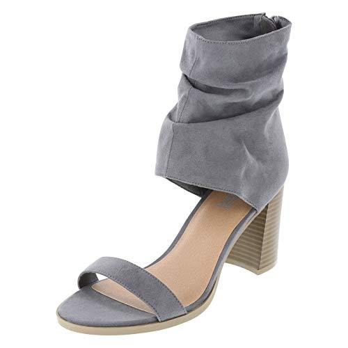 Brash Grey Women's Willy Hooded Block Heel 9.5 Regular