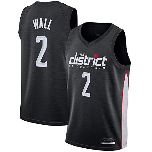 Cylficl NBA Jerseys - Camiseta de baloncesto para hombre y mujer, diseño de Washington Wizards No. 2, transpirable bordado, Swingman n.º 3, color Negro 2, tamaño X-Large