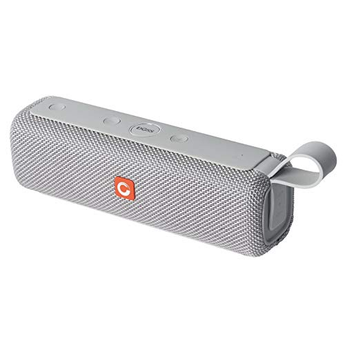 DOSS E-Go II Altavoz Bluetooth Portátil Subwoofer Impermeable IPX6 con Estéreo Premium, Micrófono Incorporado, 6w*2 Drivers, 12 Horas de Emisión Continua para Smartphone/Ordenador/Tarjetas TF