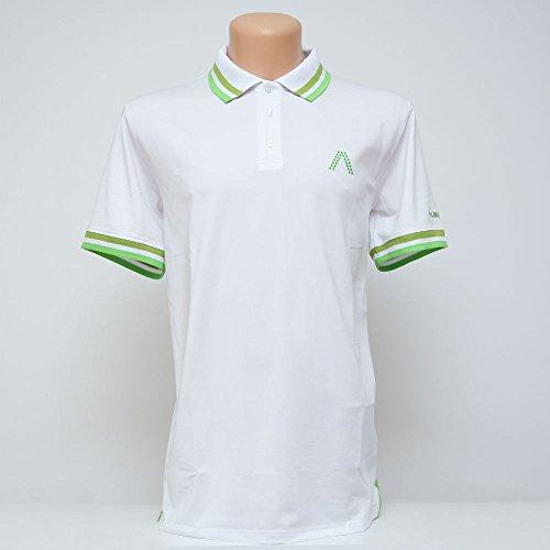Alberto Herren Golfshirt Poloshirt Dry Comfort weiß Gr. M