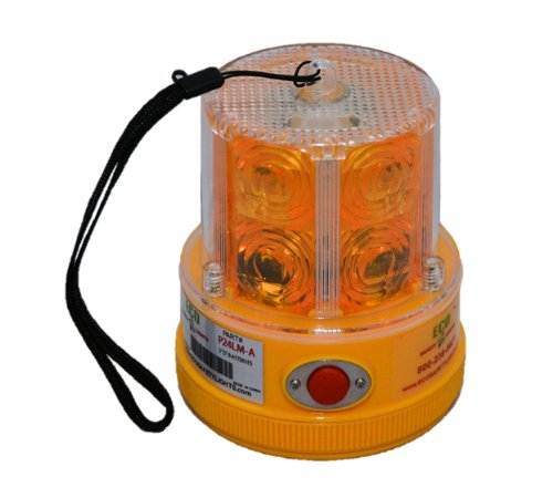 P24LM2 AMBER 24 LED PORTABLE SAFETY LIGHT 50 LBS PULL MAGNET PERSONAL HAZARD EMERGENCY WARNING LIGHT