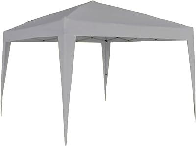 Cenador telescópico plegable - Medidas 3 x 3 mt - Color blanco ...