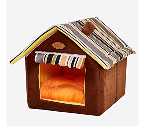 Knappe katten- en hondenhok, hondenhut voor binnenshuis, verwijderbare en reinigbare hondenmand