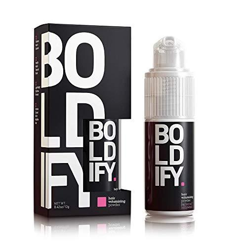 BOLDIFY Hair Volumizer Powder - 24 Hour Volume & Softness - No Mess, Matting, or Clumping - Easily Comb Thin, Lifeless Hair to Luscious Fullness - Hair Powder for Women & Men